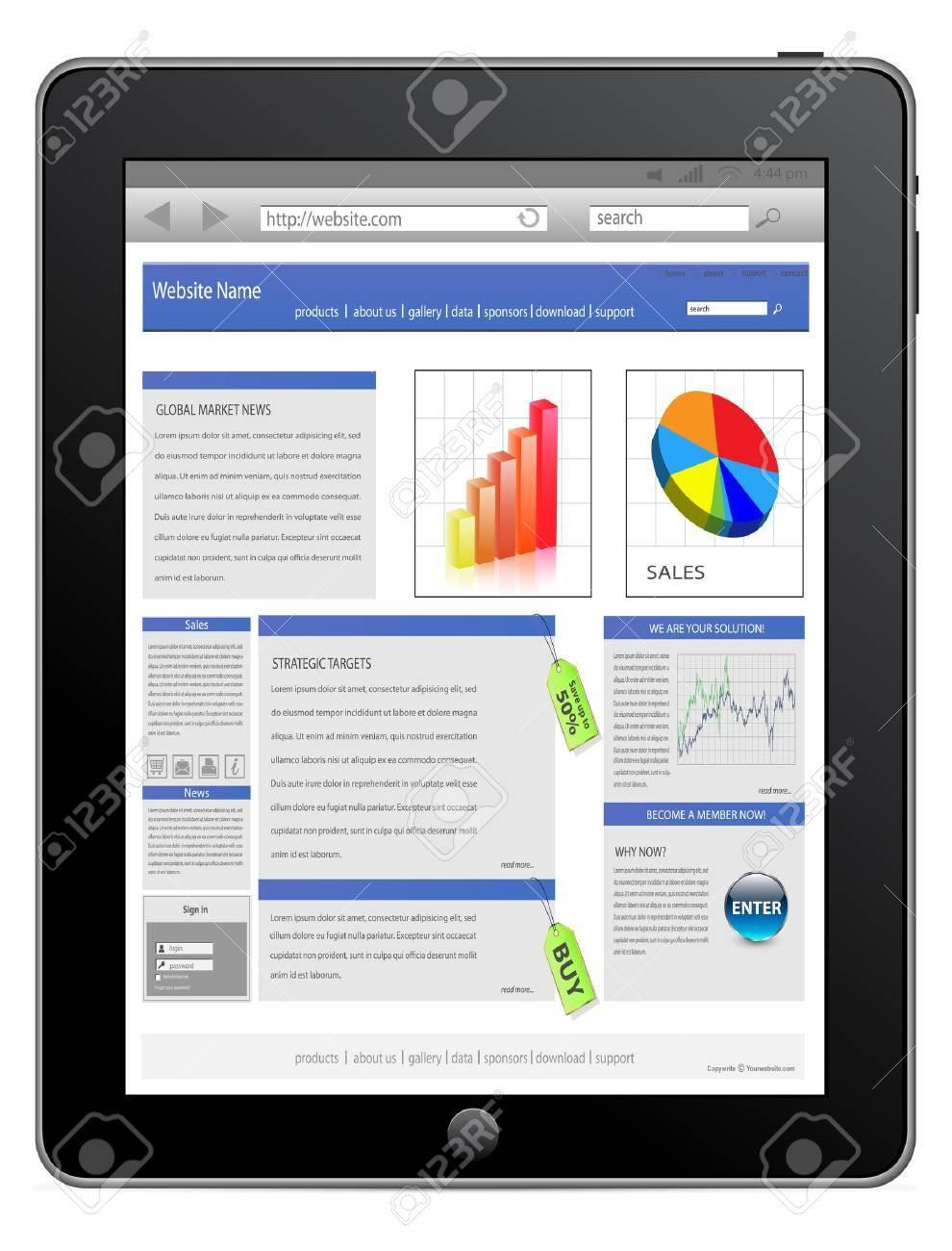 Tablet computer Stock Vector - 9193364