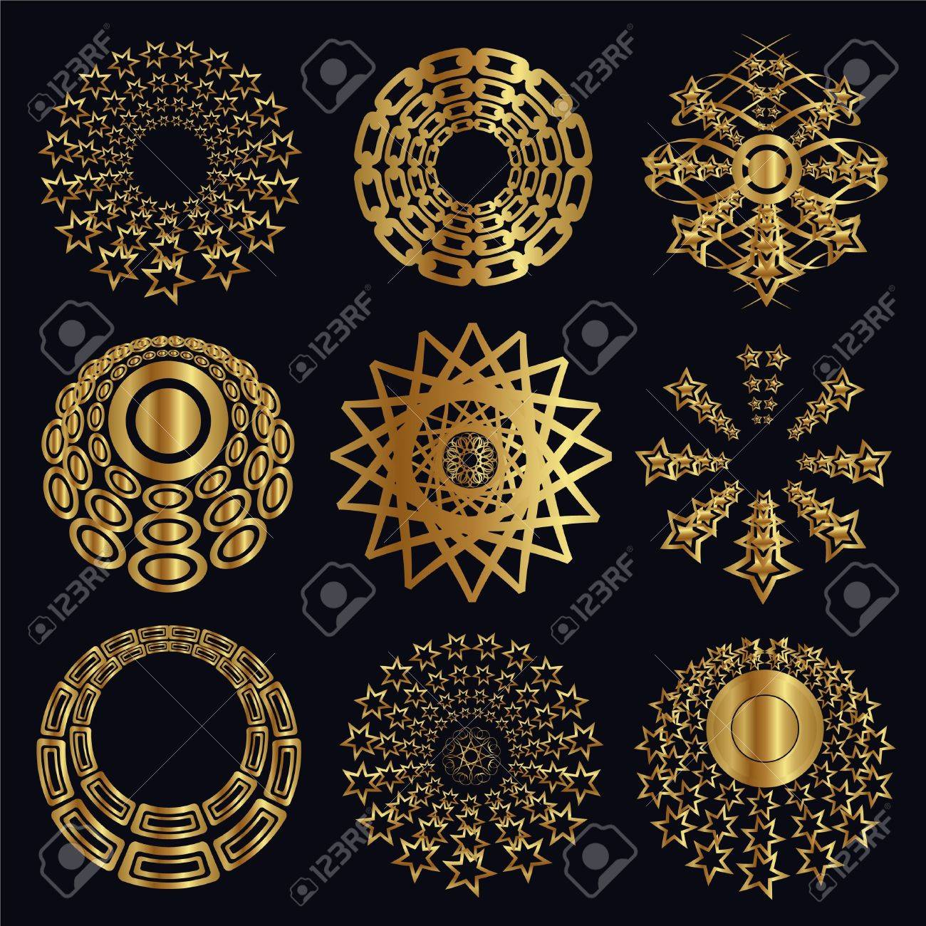 Design and caligraphic elements, gold ornaments for page decoration Stock Vector - 9507149