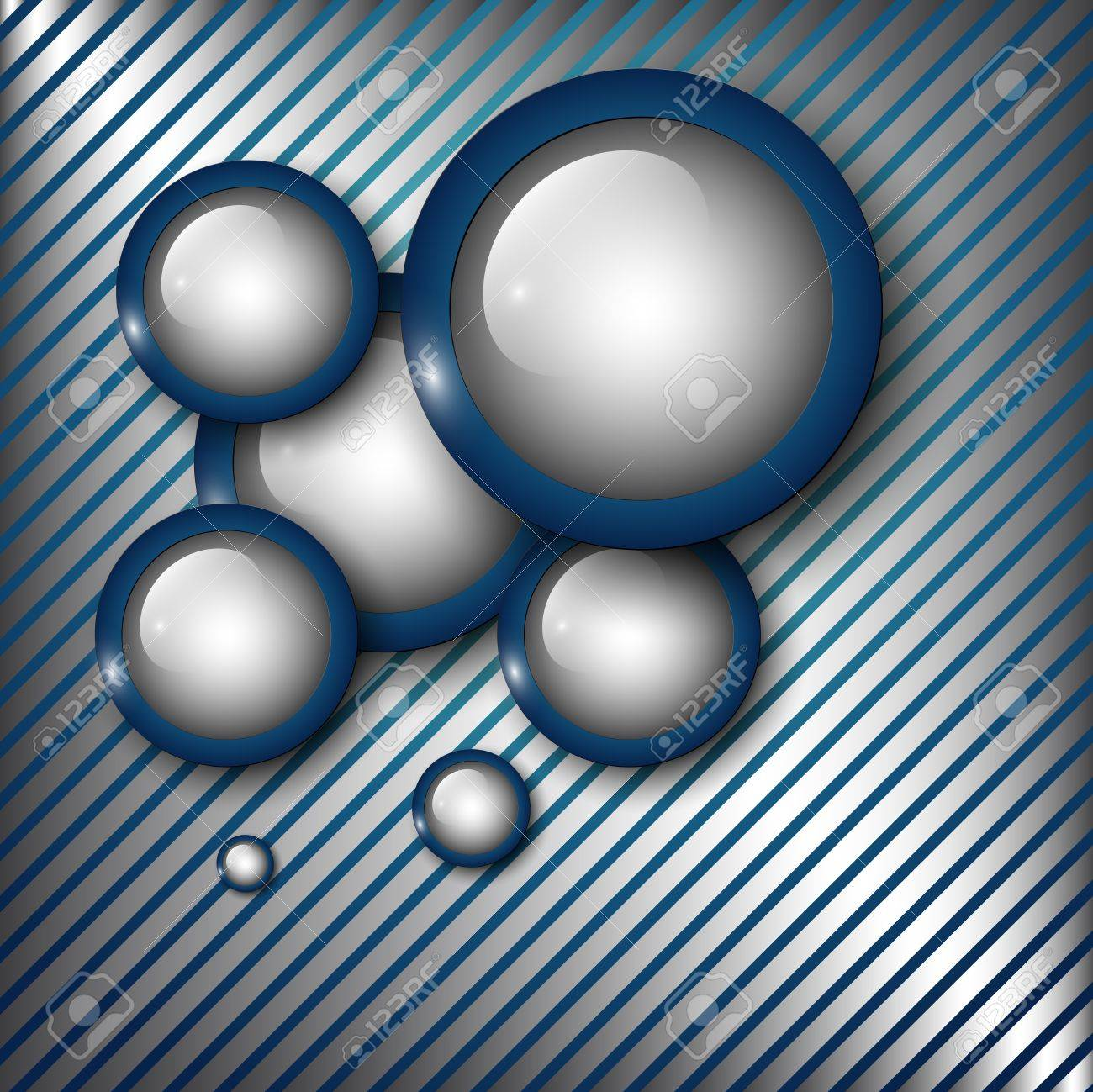 Abstract technology  background silver blue Stock Vector - 9716807