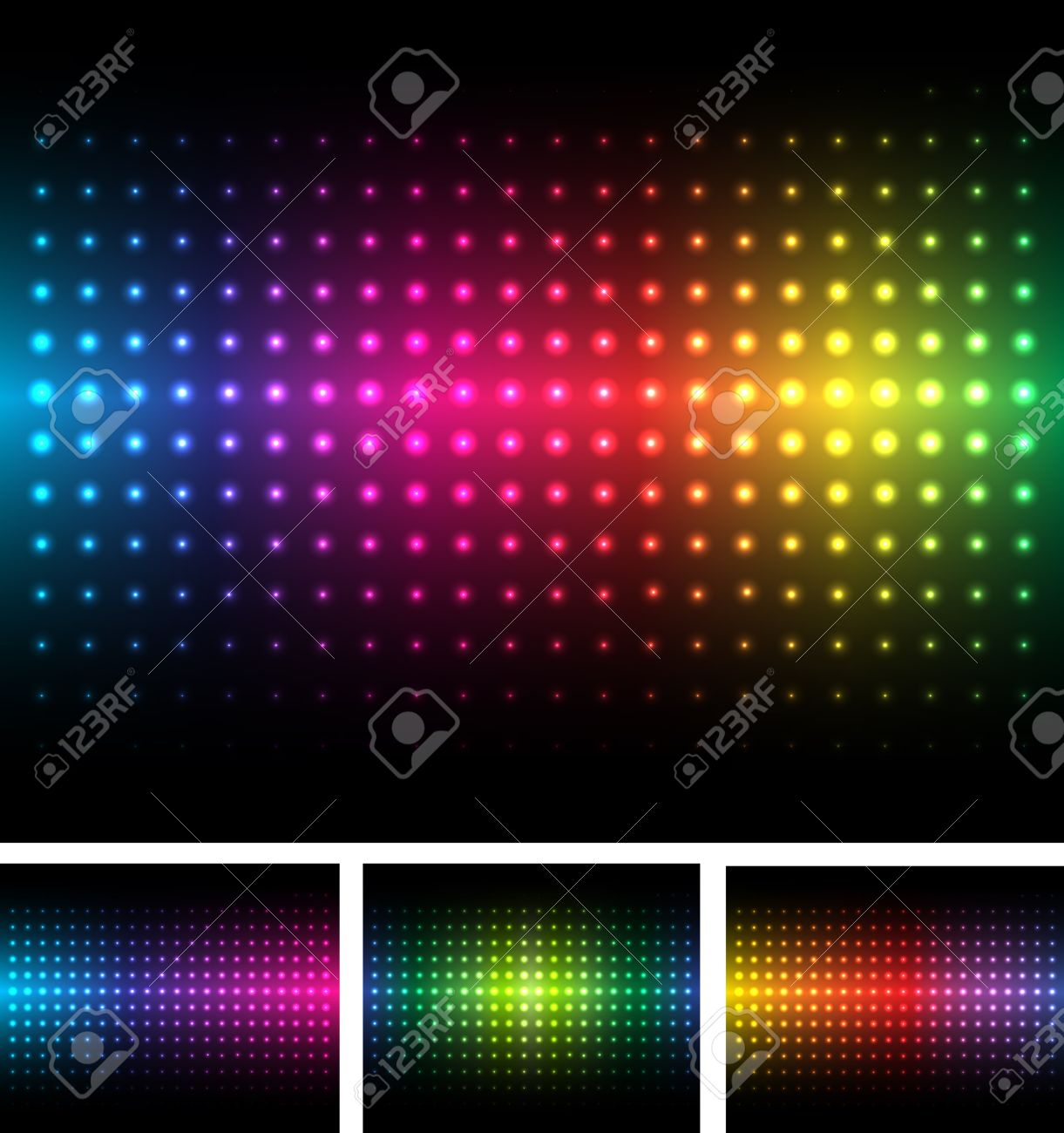 Abstract background colorful lights on black, vector. Stock Vector - 9823084