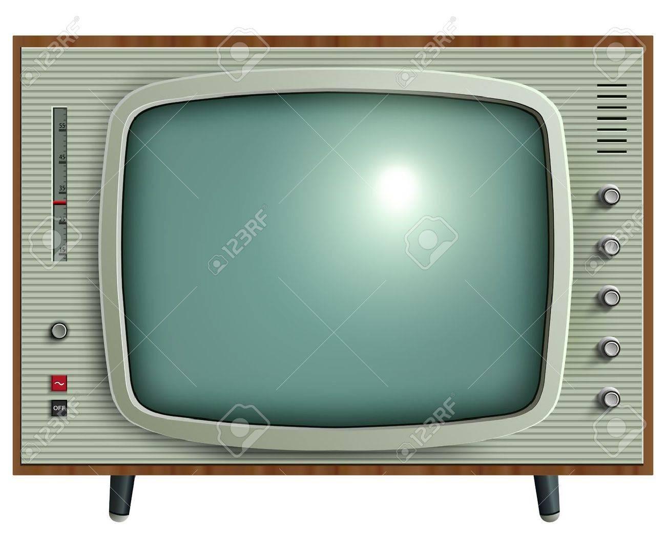 retro tv illustration stock vector 12076988