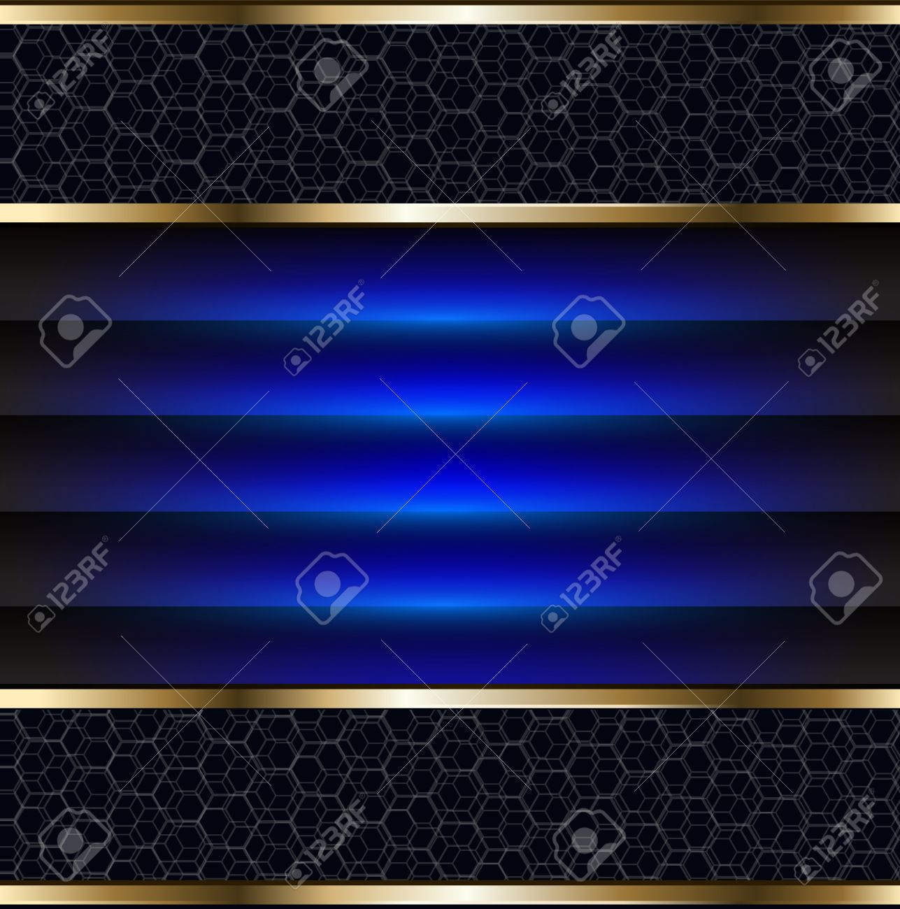 Abstract background elegant blue and gold, vector. Stock Vector - 12282501