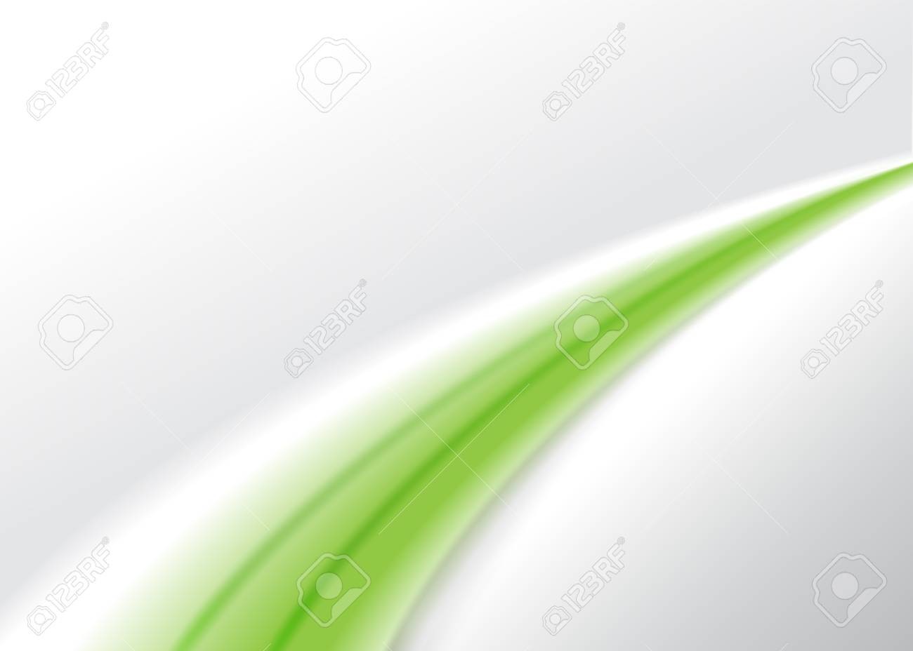 Abstract green wave background. Stock Vector - 12486496