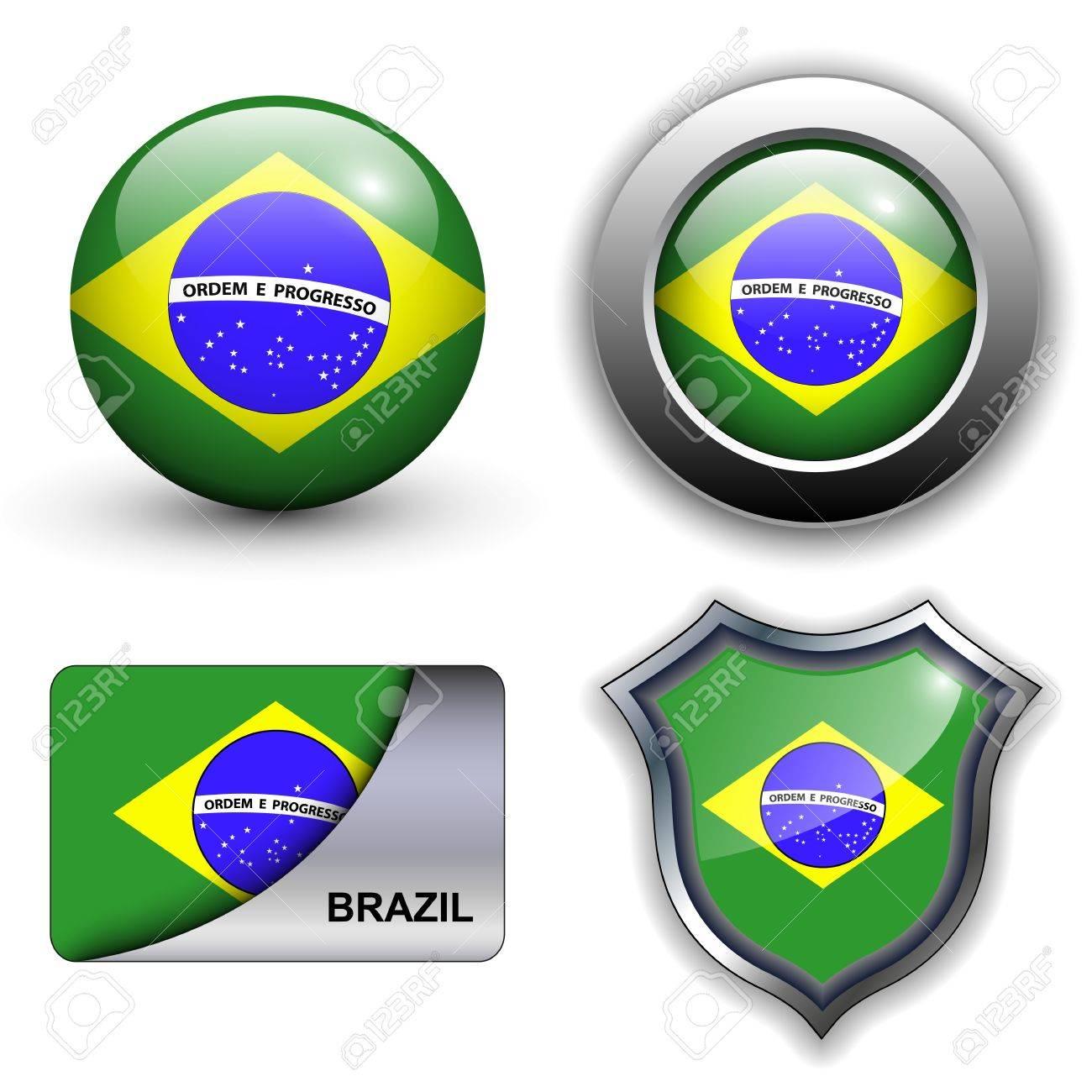 Handmade watercolor brazil flag brasil stock photos freeimages com - Brazil Flag Business Brazil Flag Icons Theme
