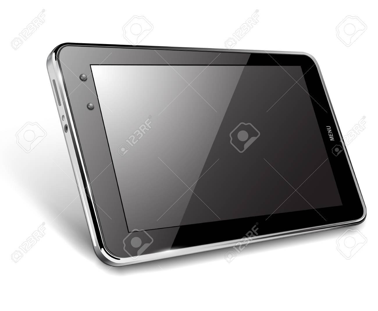 Tablet computer, vector illustration Stock Vector - 13963516