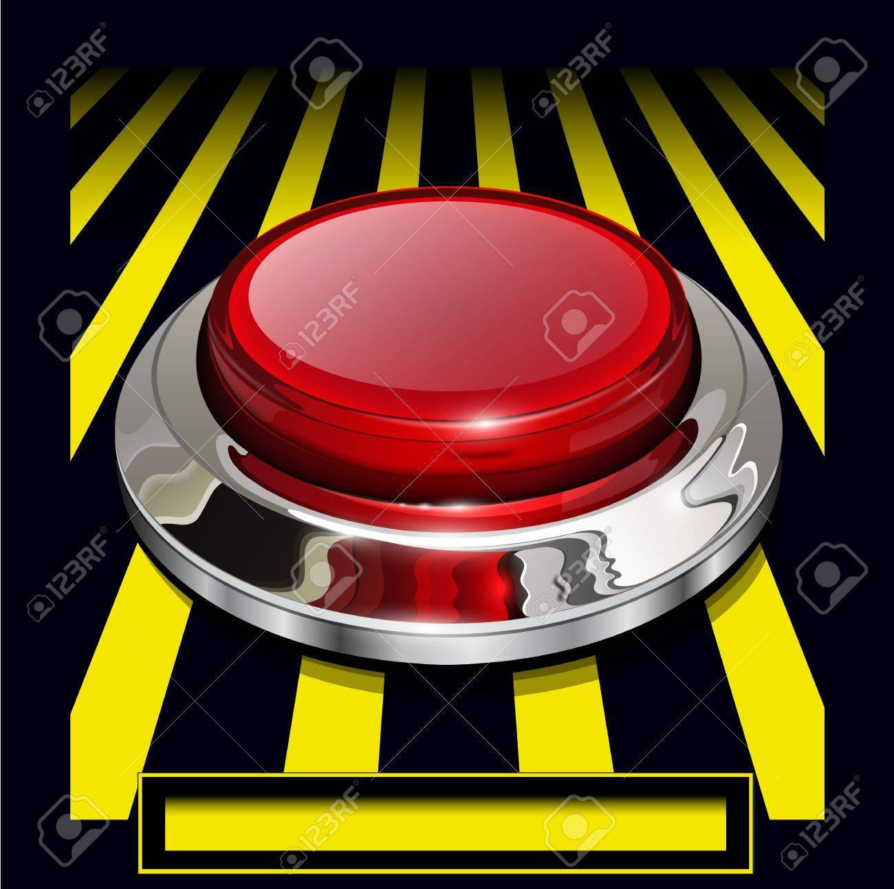 Red alarm chrome shiny button background Stock Vector - 14771665