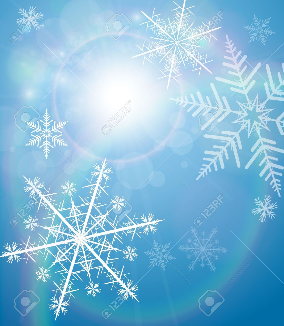 Winter background with snowflakes - 14945019