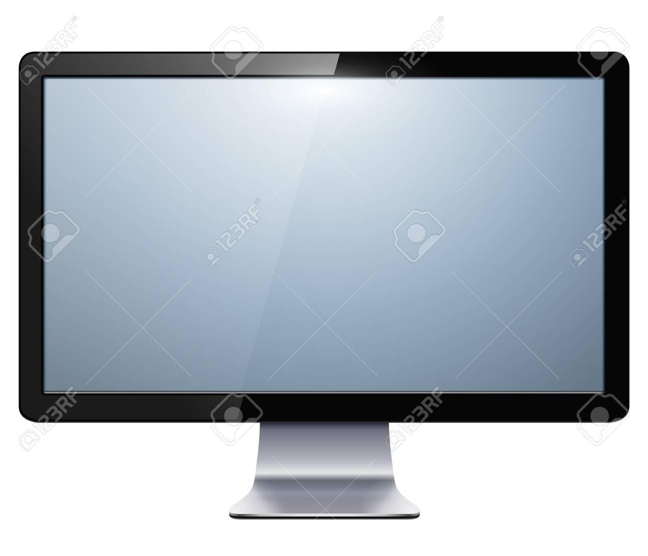 液晶テレビ モニター分離されたイラスト。 ロイヤリティフリークリップ