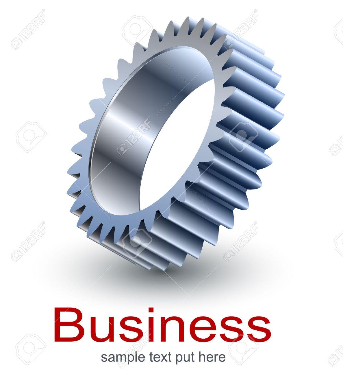 Logo design, technology metallic gear. Stock Vector - 15516150