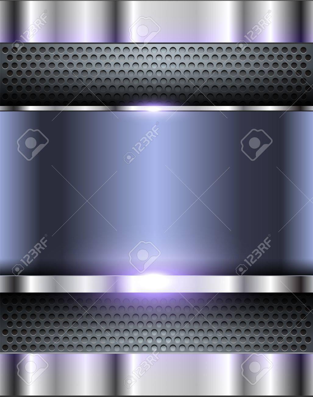 Technology metallic background Stock Vector - 15712609