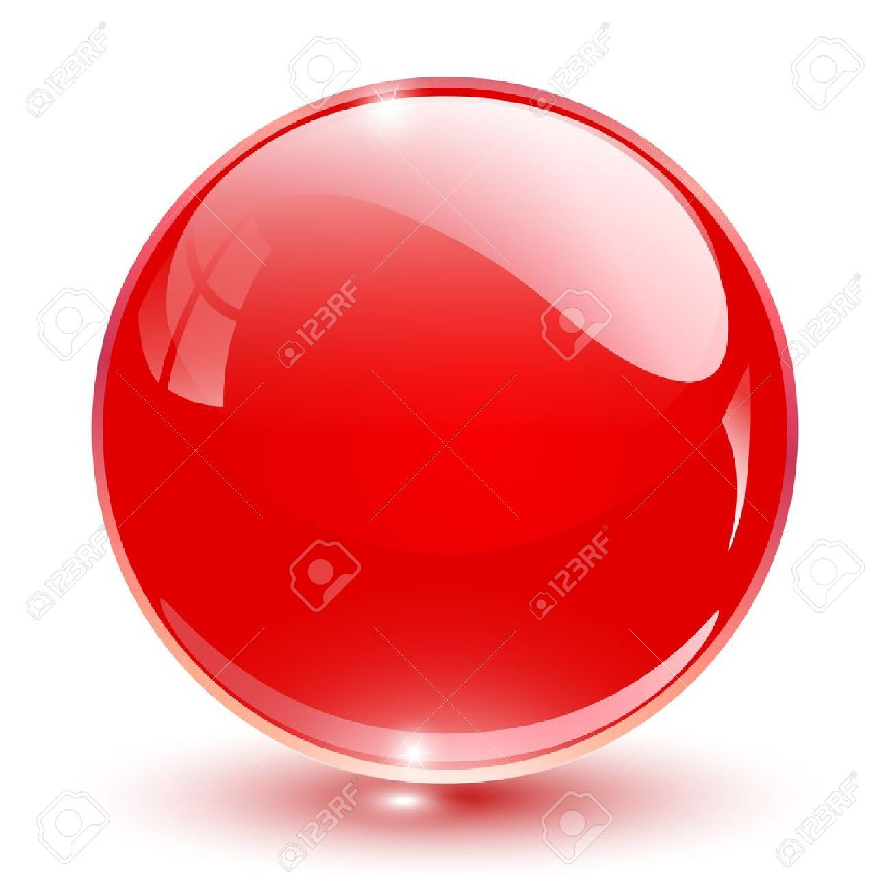3D crystal sphere red,  illustration. Stock Vector - 16557125
