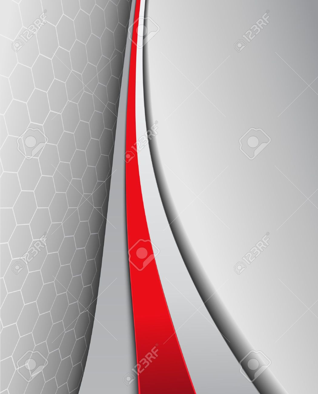Business background, elegant grey with red, vector design. Stock Vector - 16798260