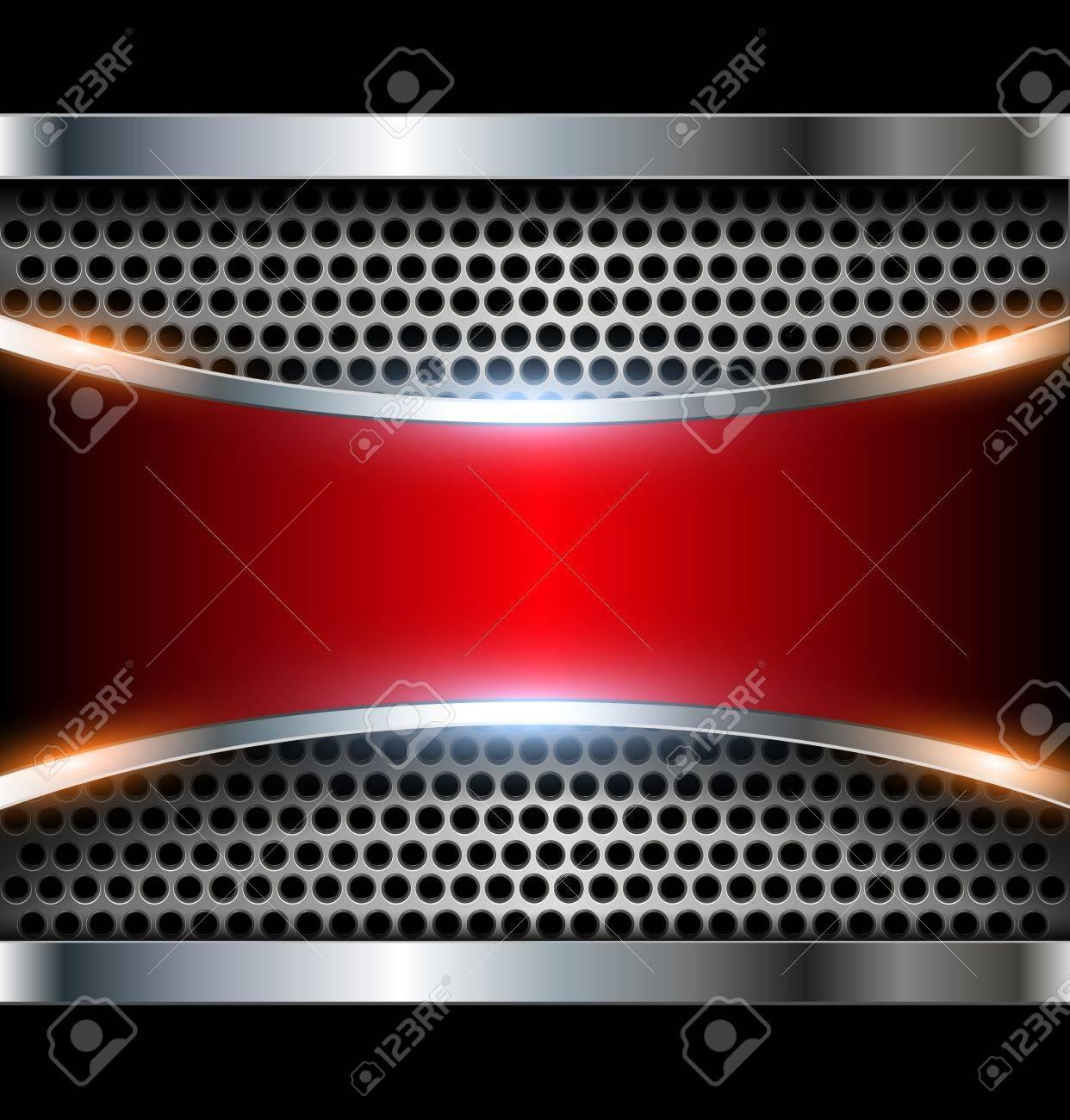 Elegant 3d metallic background Stock Vector - 17105975