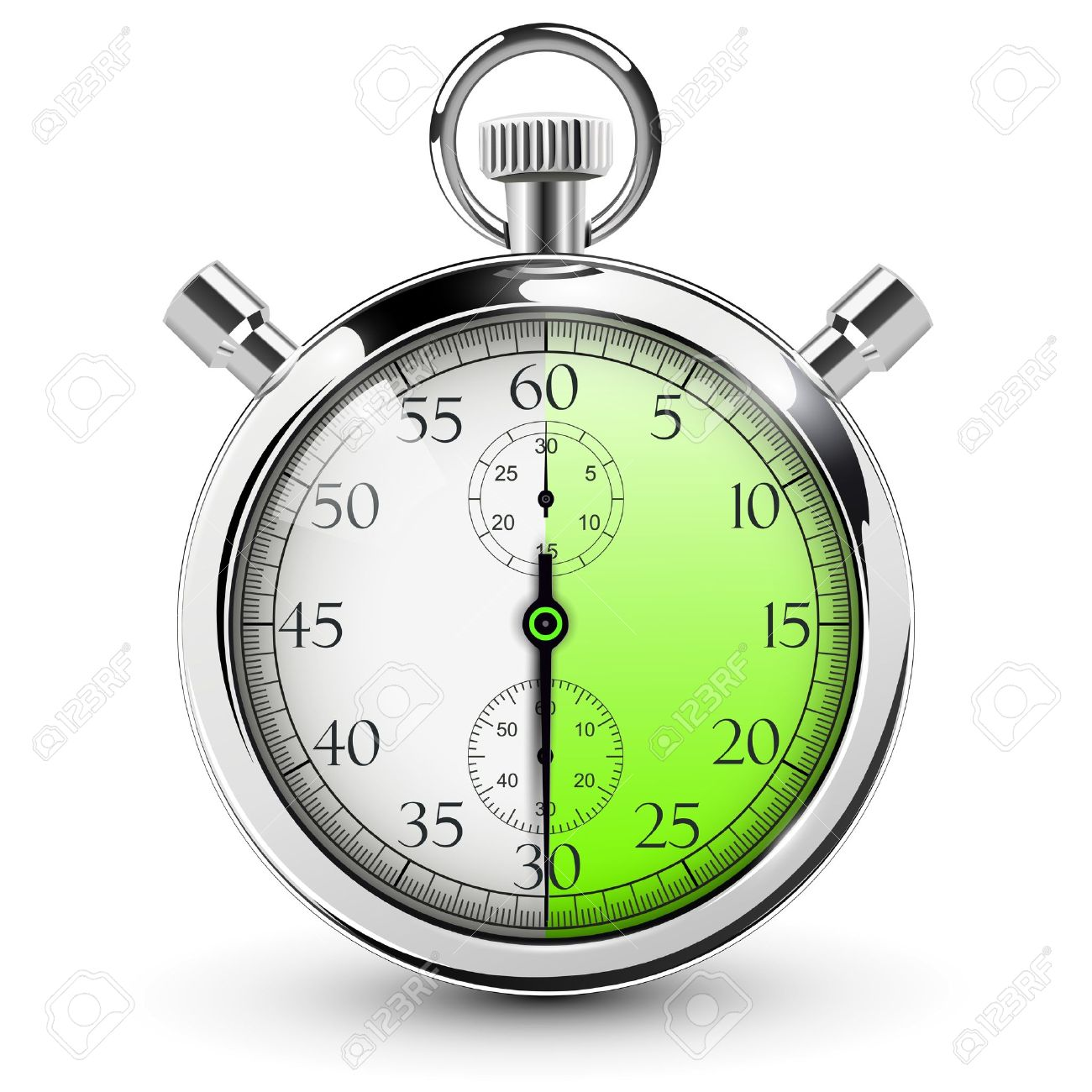 30 Seconds Stop Watch. Royalty Free Cliparts, Vectors, And Stock ...