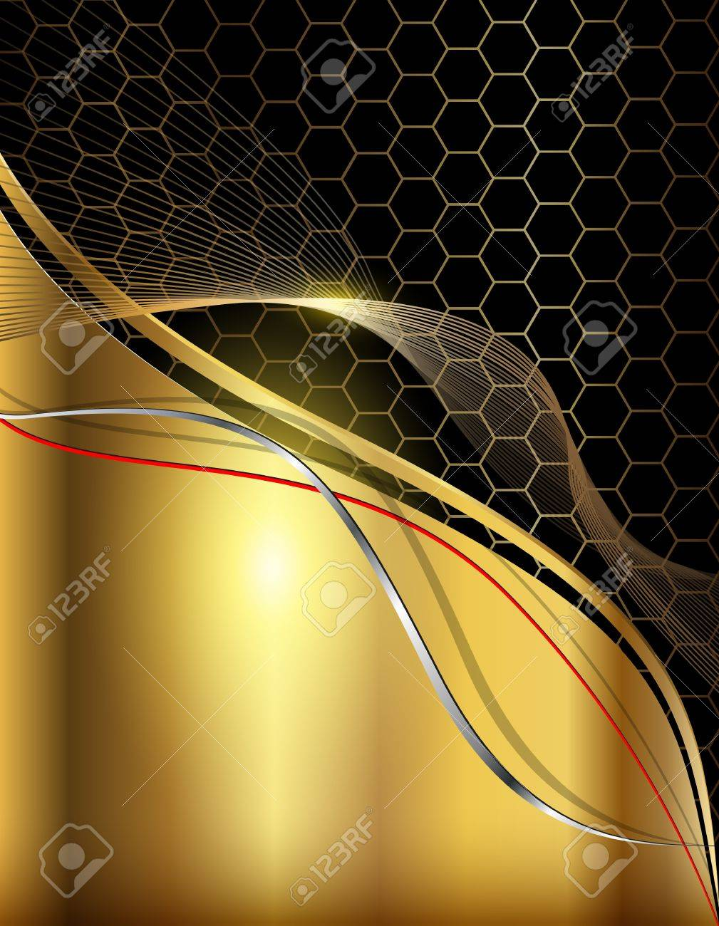 Business abstract background elegant gold. Stock Vector - 18524149