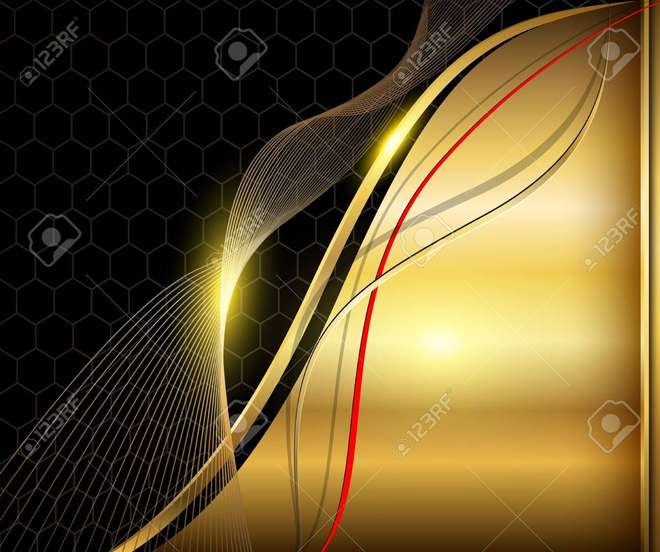 Elegant abstract background vintage gold. Stock Vector - 18677486