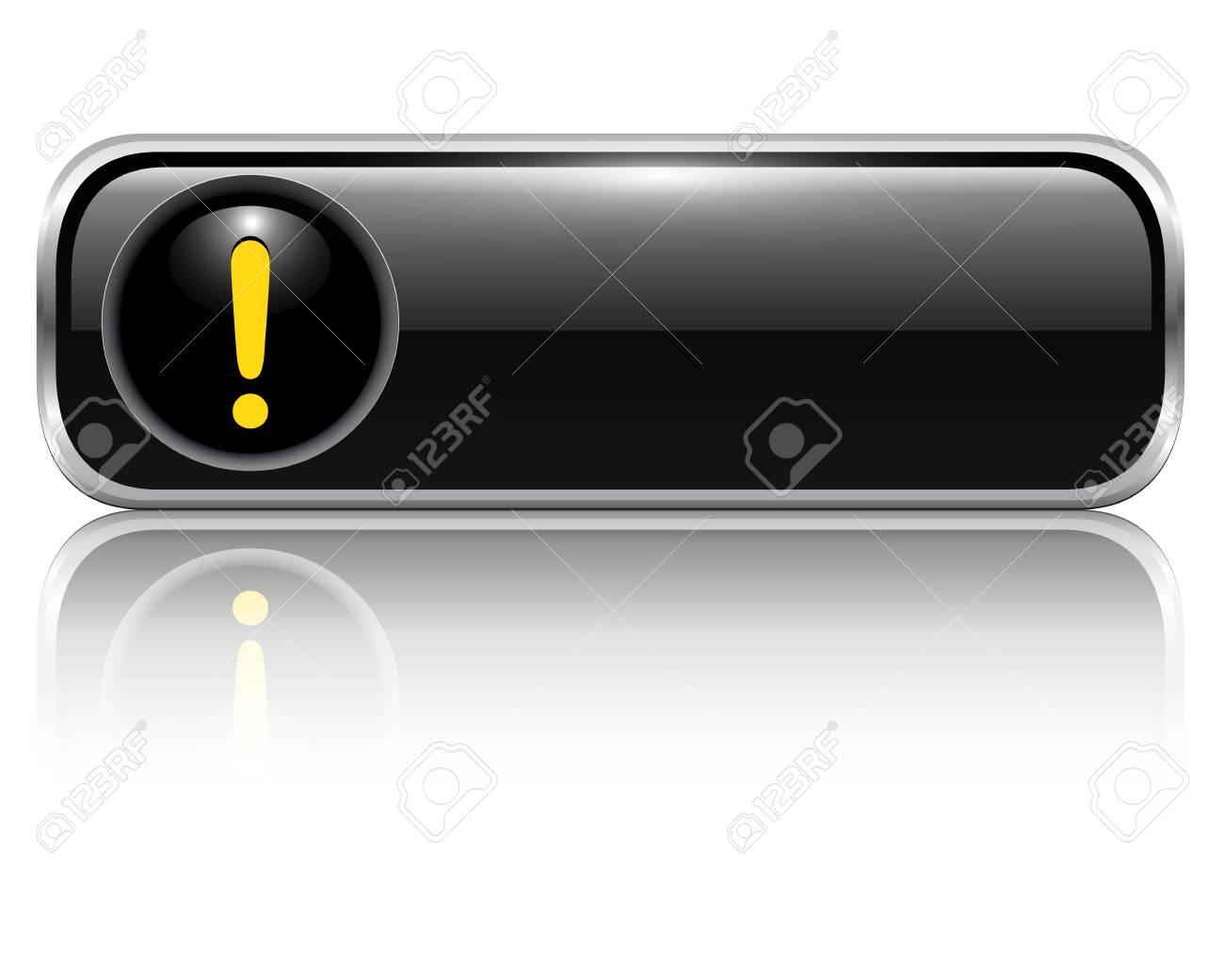 Exclamation danger button Stock Vector - 19104925