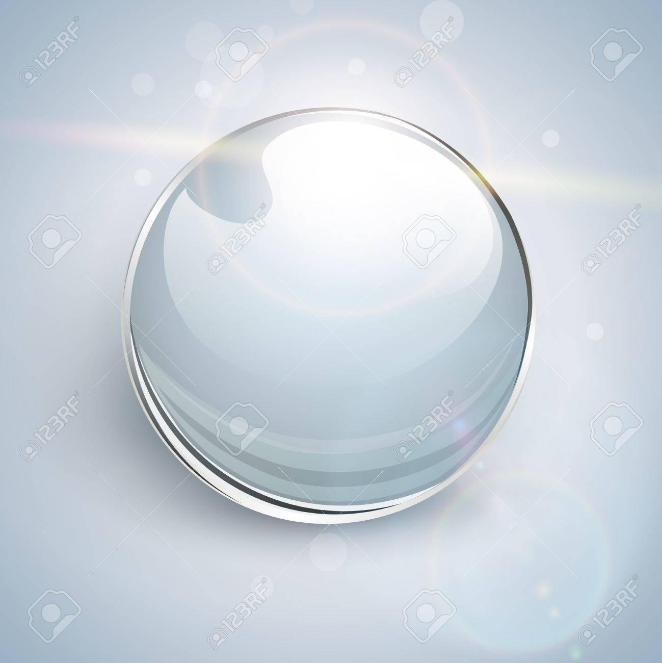 Shiny glass ball background. Stock Vector - 20950947