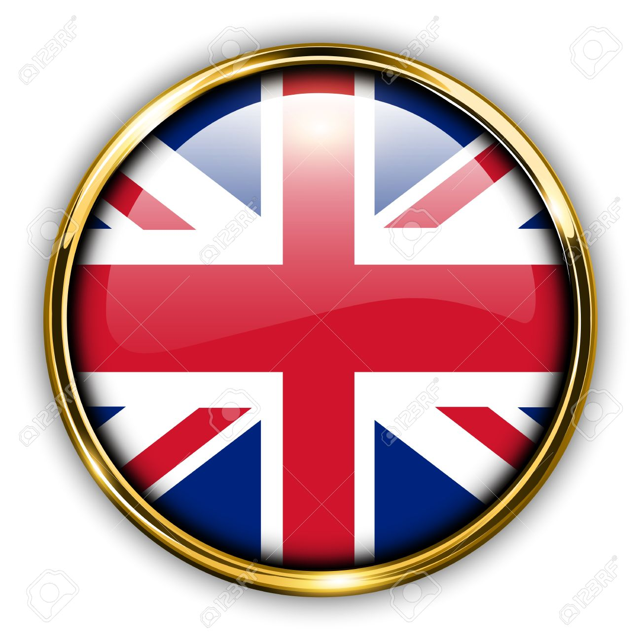 United Kingdom UK Flag Button Royalty Free Cliparts Vectors And