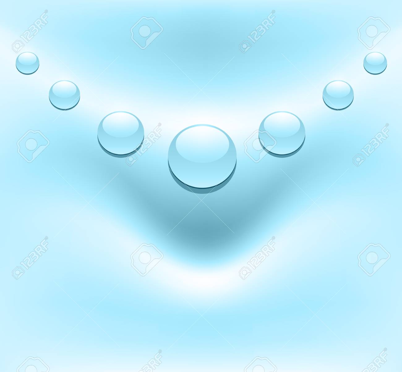 Blue, soft background with water drops. Stock Vector - 21735009