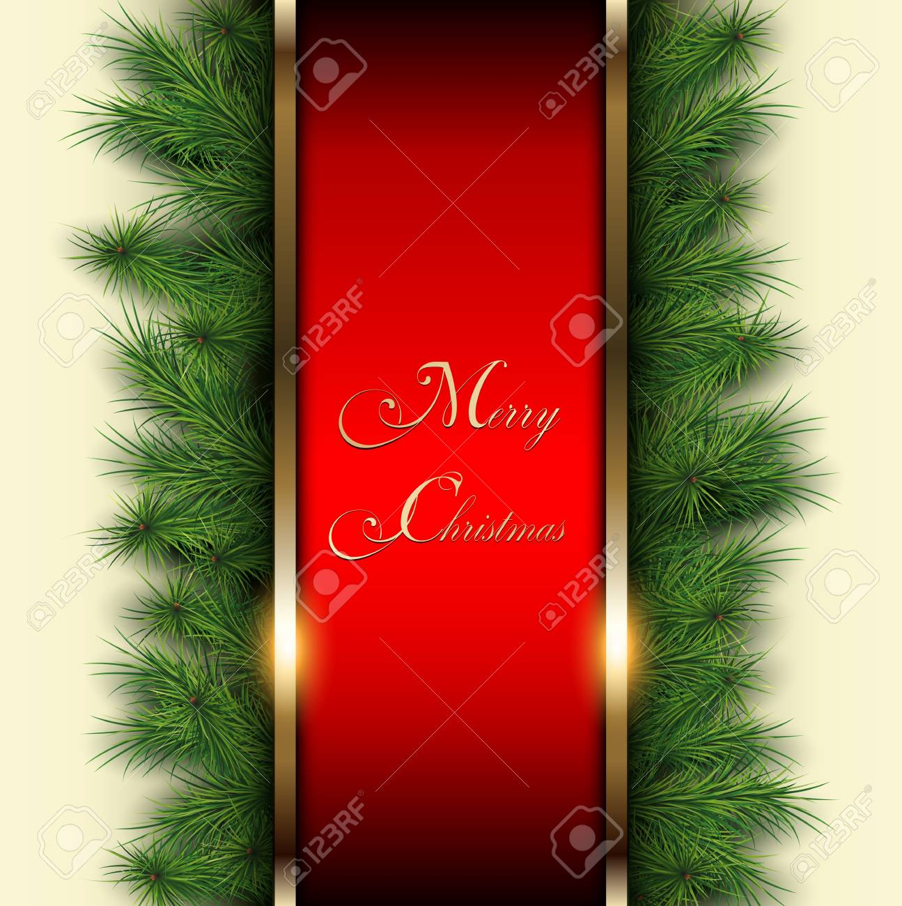 Christmas background with vector christmas tree Stock Vector - 22017098