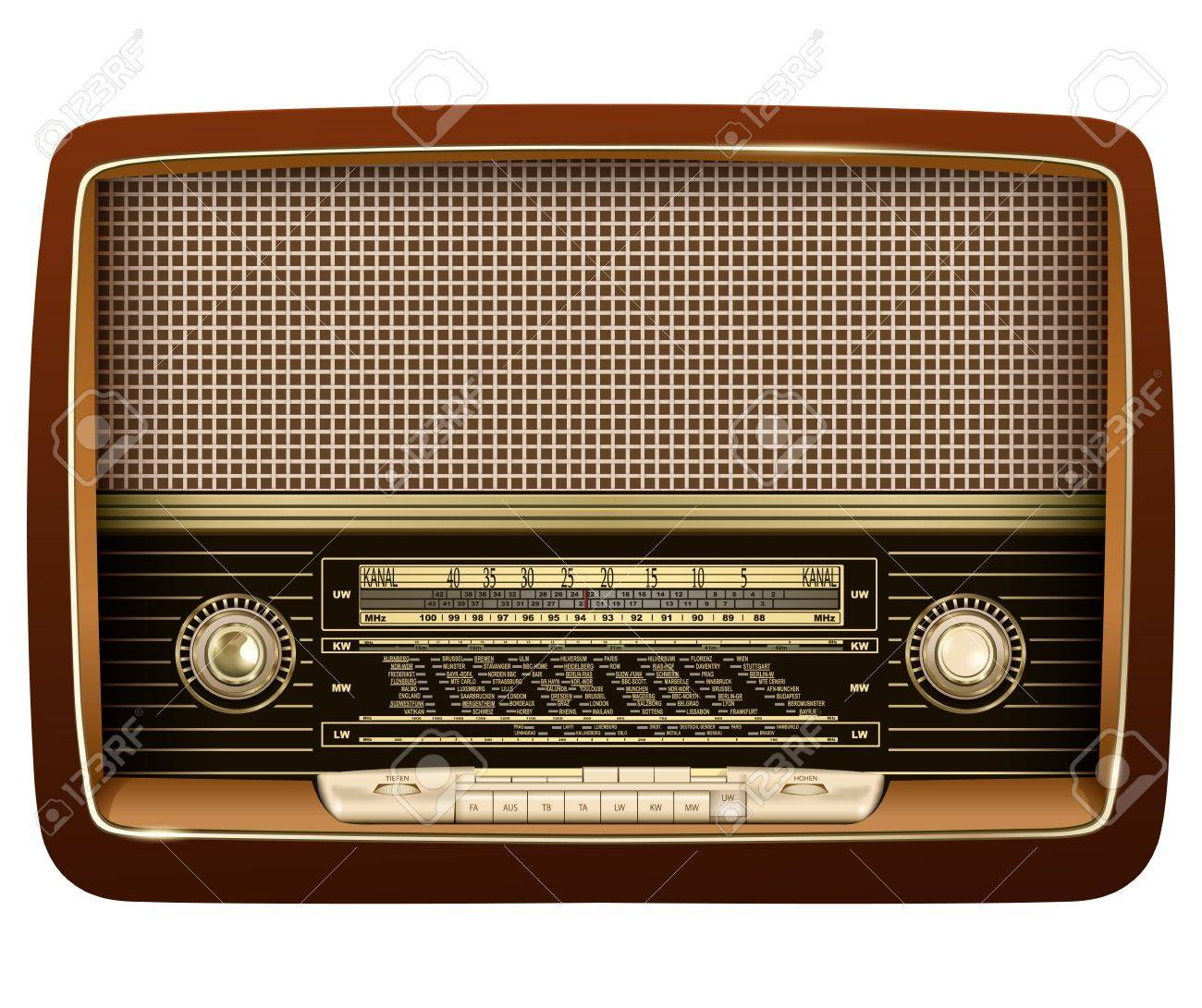 Retro radio, realistic vector illustration. Stock Vector - 22081015
