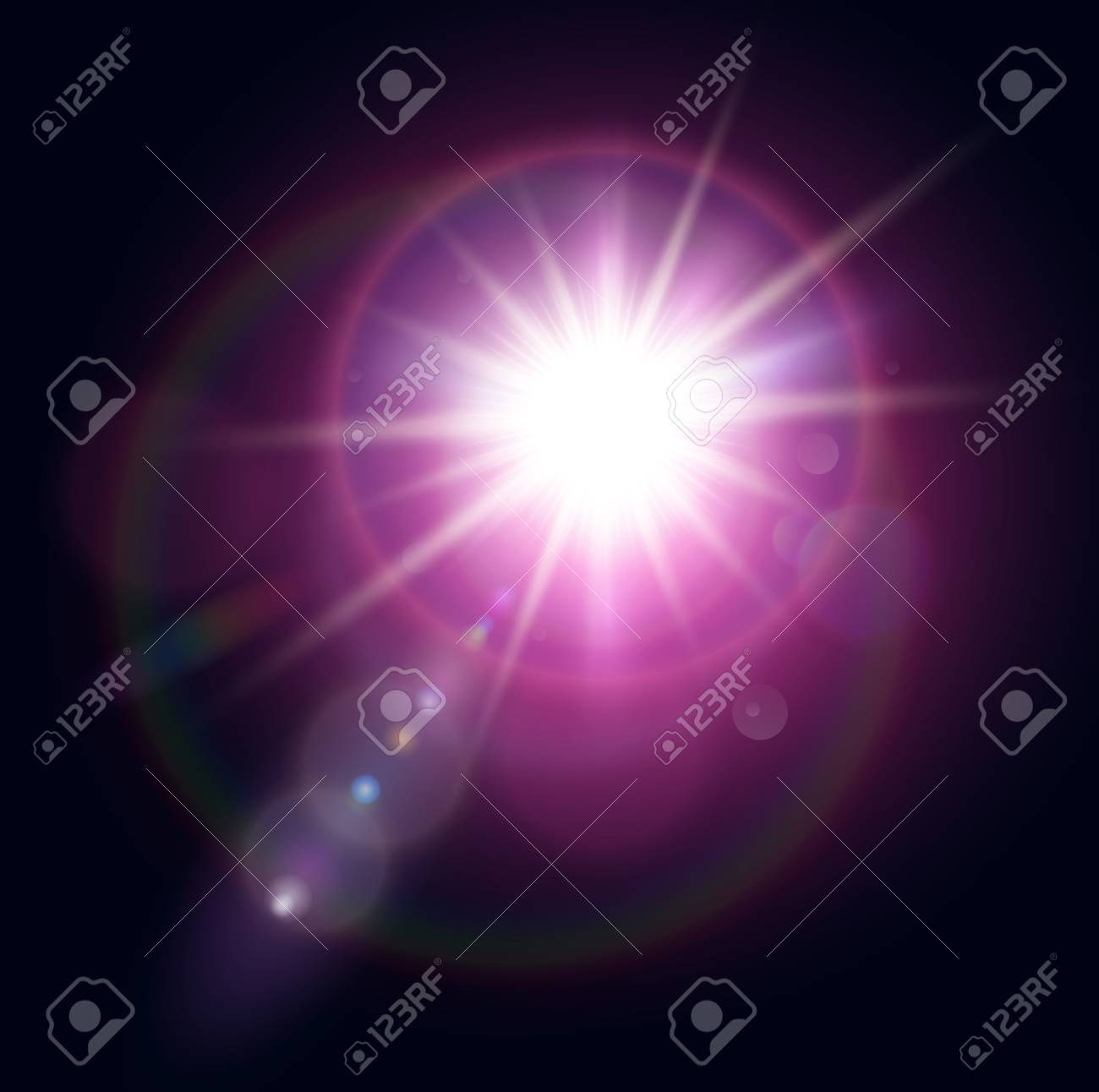 Vector star, sun with lens flare. Stock Vector - 22426026