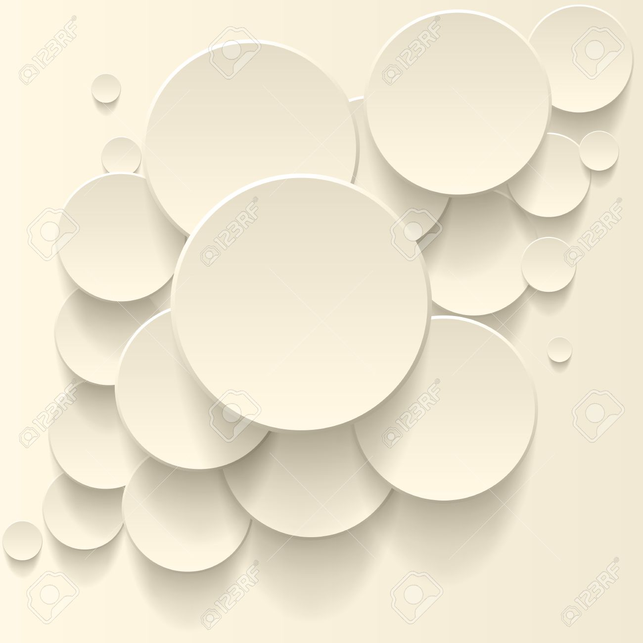Vector abstract background, 3D overlapping circles, vector design. Stock Vector - 23103212