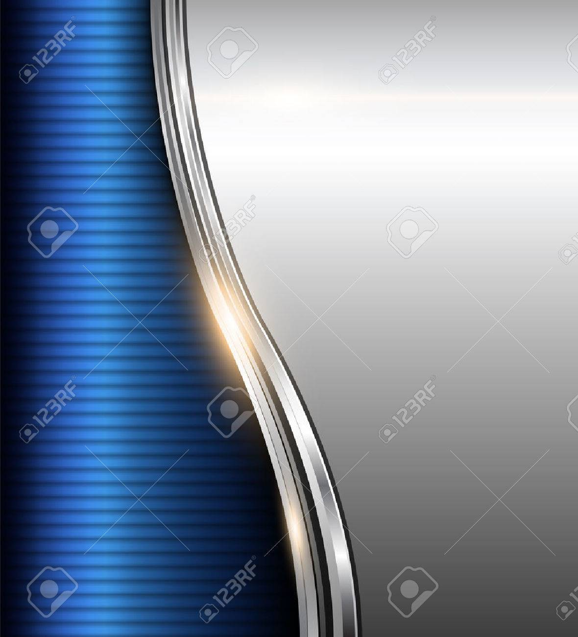 Abstract business background blue and silver, vector illustration. Stock Vector - 25042323