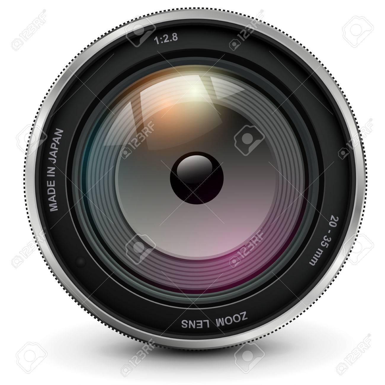 カメラ写真レンズ、ベクトル イラスト。 ロイヤリティフリークリップ