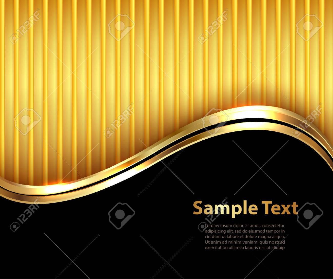 Business background, elegant gold and black, vector illustration. - 36130526