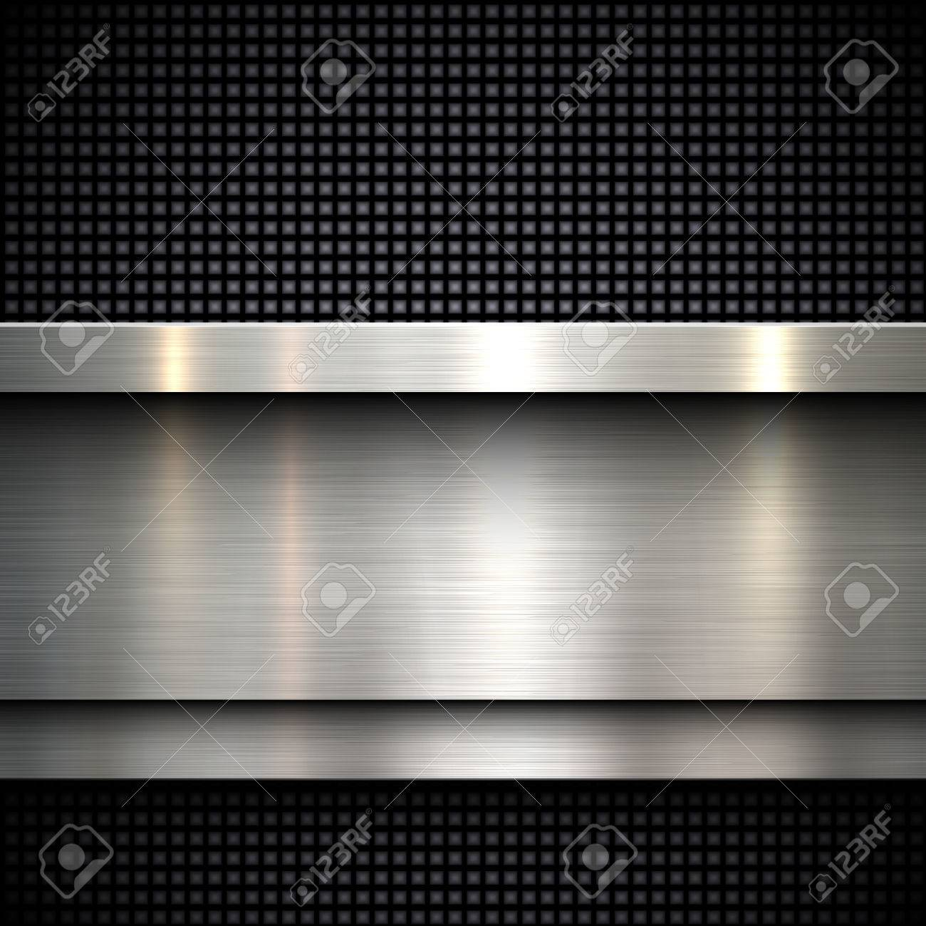 Abstract metal template background design, vector illustration - 39620588
