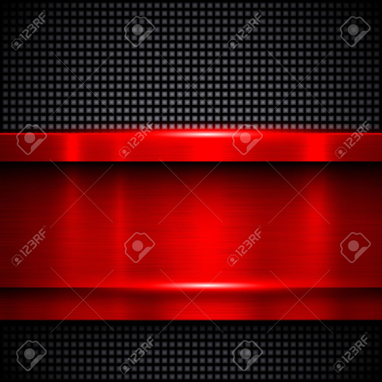 Background red metal texture, vector illustration. - 40955262