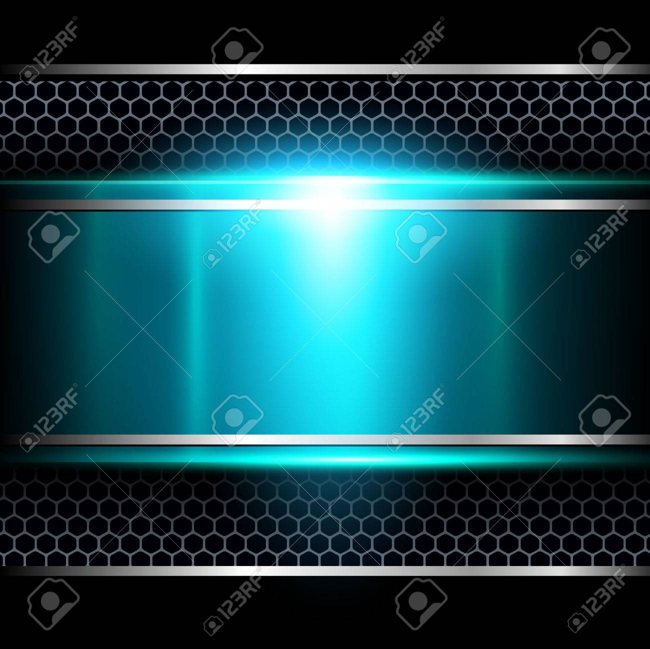 Background abstract blue metallic - 41550357