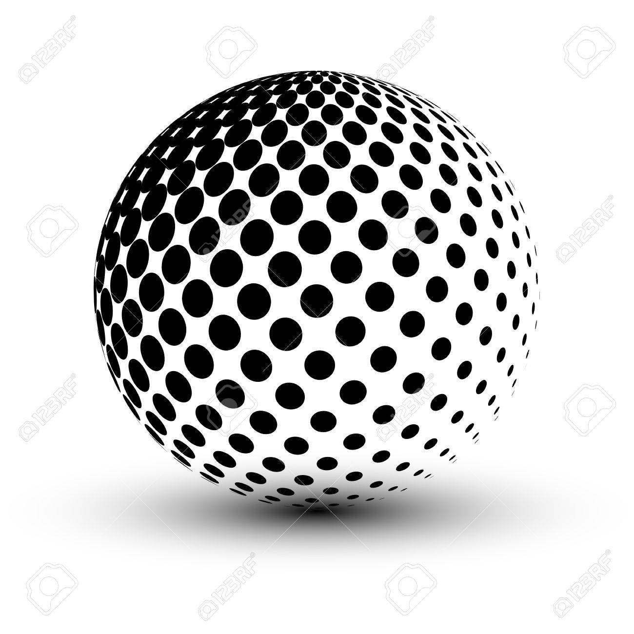 Abstract Halftone sphere, vector design. - 44225993