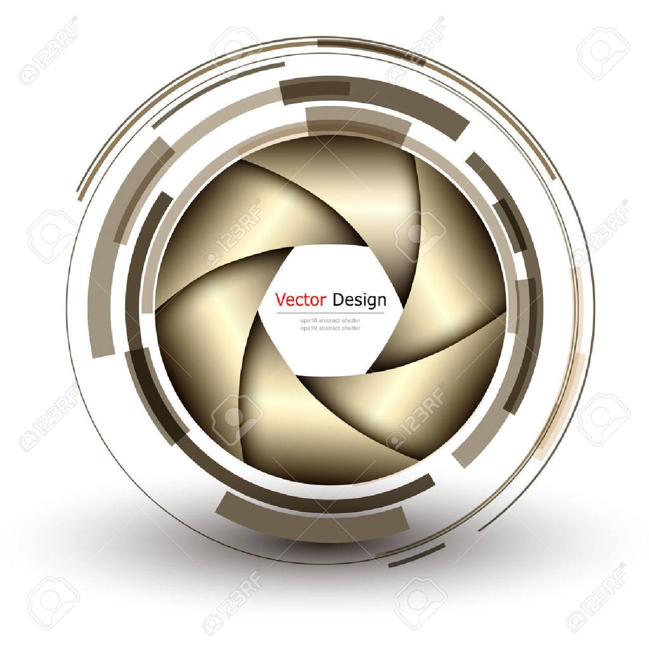 3D Fondo Con Diseño Resumen Objetivo Y El Vector Del Obturador ...