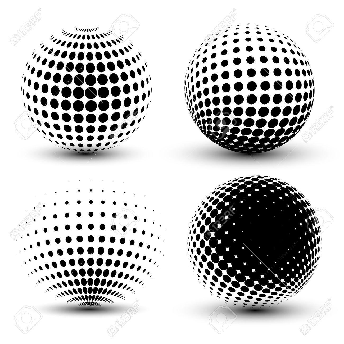 vector de medias esferas d conjunto de fondos de medios tonos vectoriales elementos de