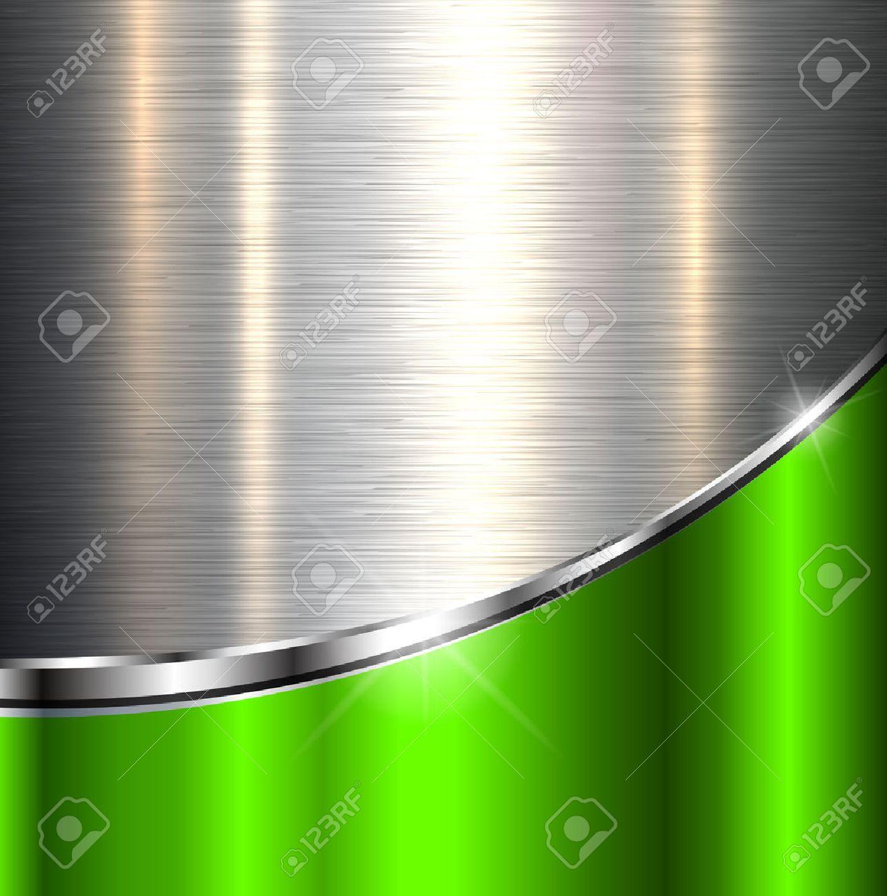 Metallic background polished steel texture, vector design. - 54925494
