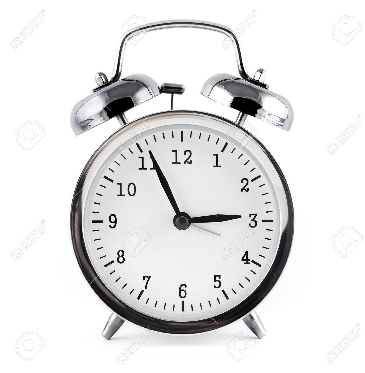 alarm clock, isolated on white background. - 55346474