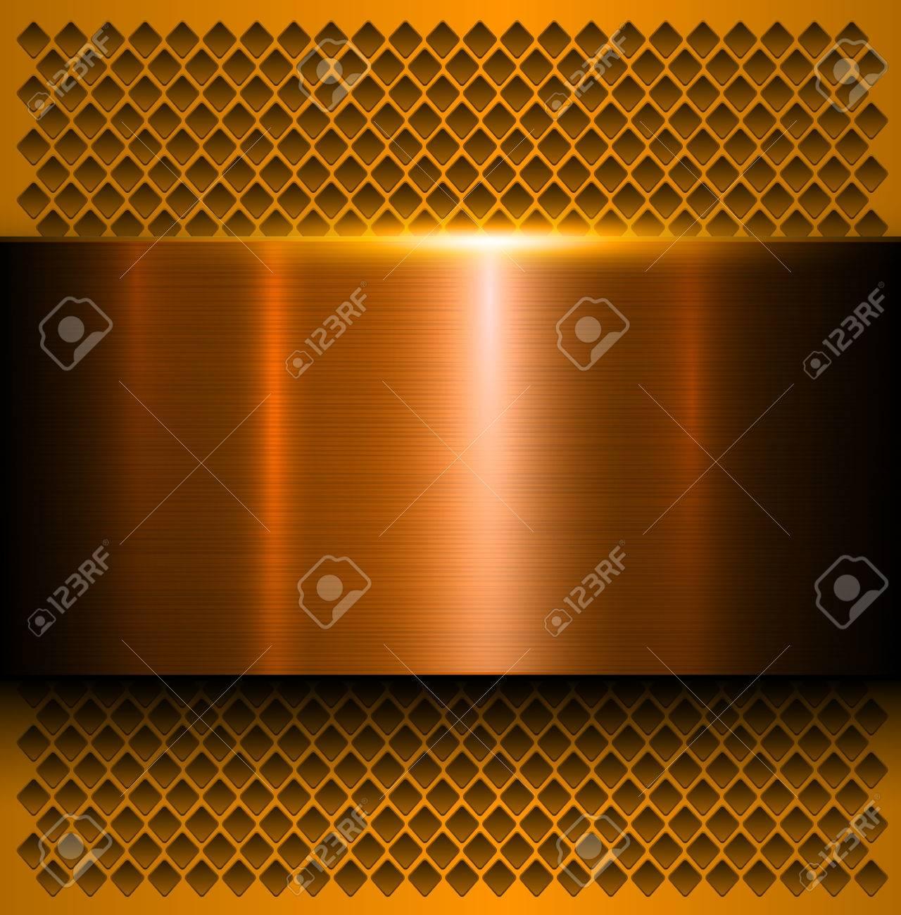 Metal background, polished metallic texture, vector illustration - 60080892