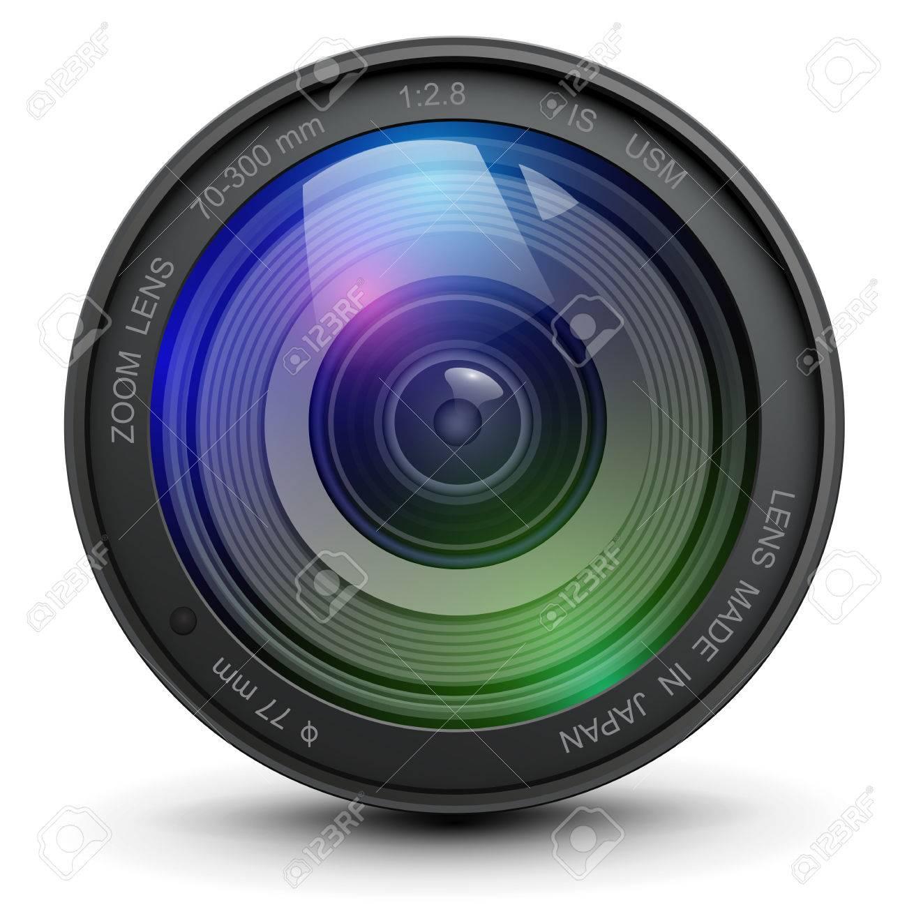 カメラ写真レンズ、ベクトル イラスト ロイヤリティフリークリップ