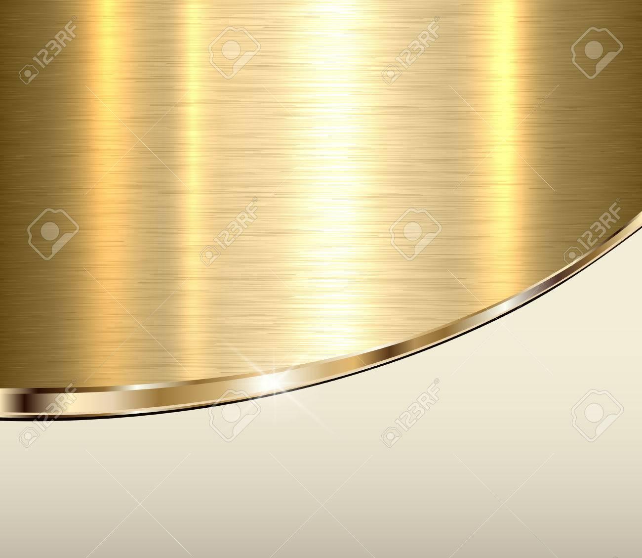 fondo de metal dorado textura metálica vector dorado elegante