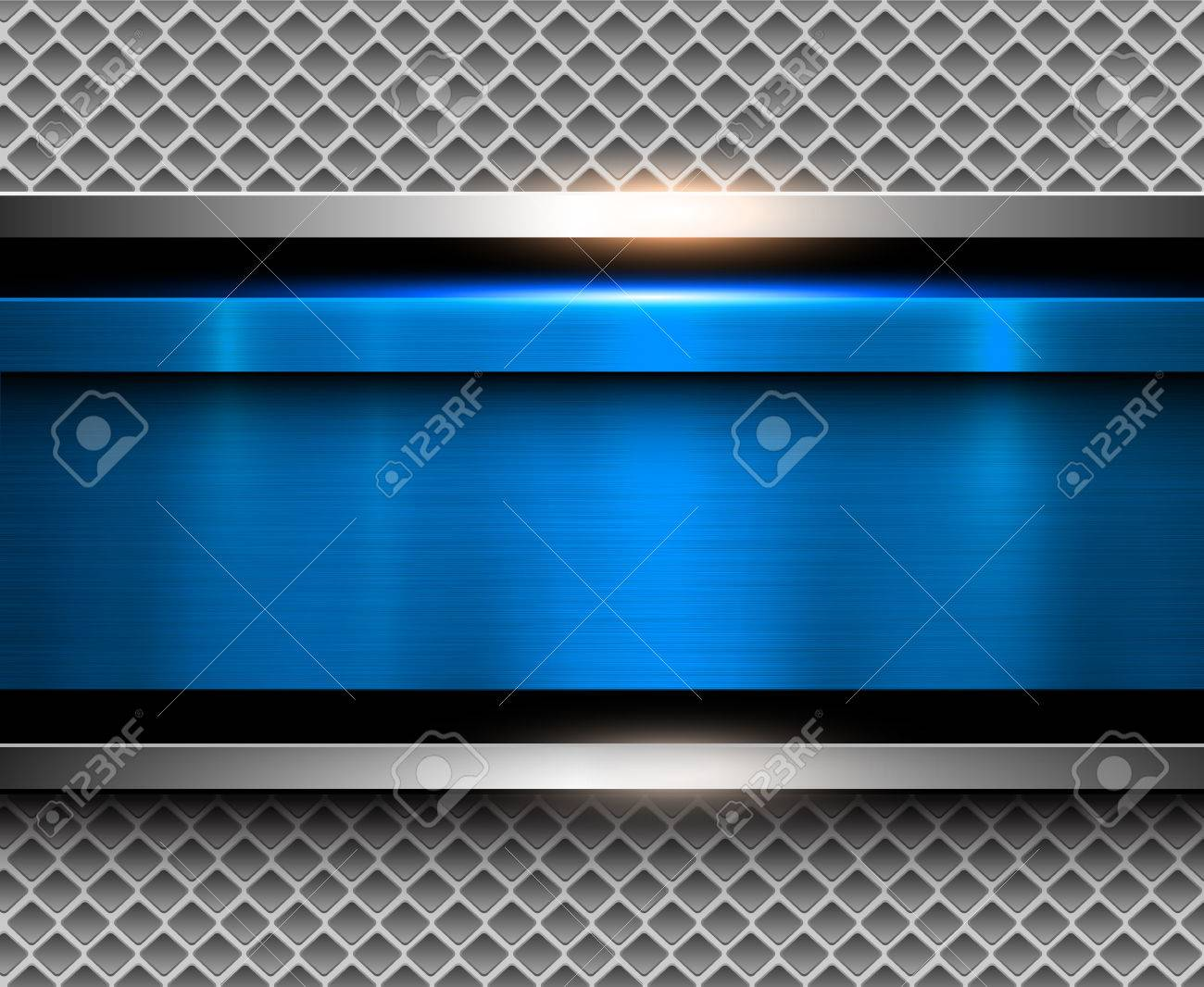 Background metallic blue with brushed metal texture, vector illustration. - 70320626