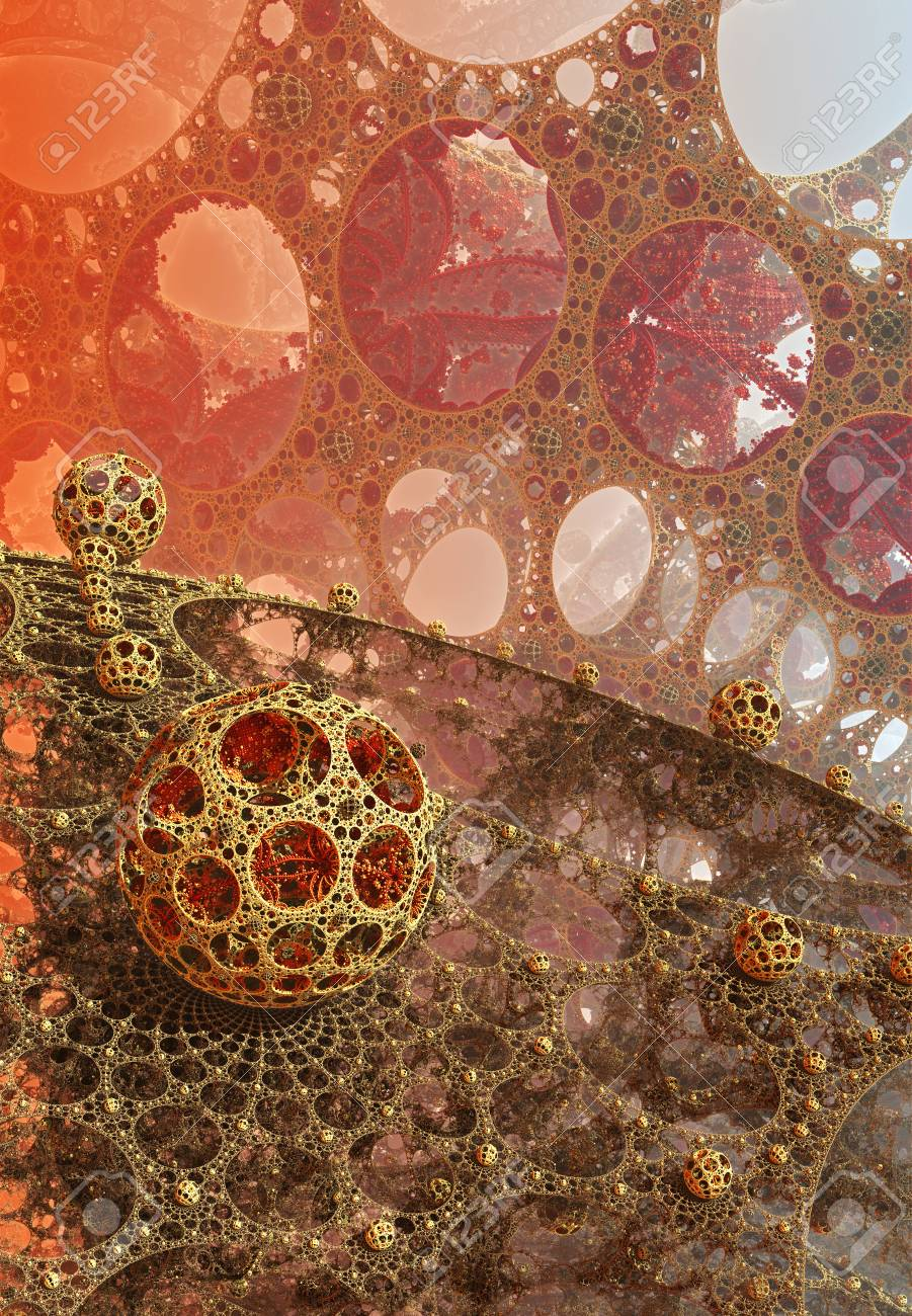 Background With Fantastic 3d Spheres Abstract Design