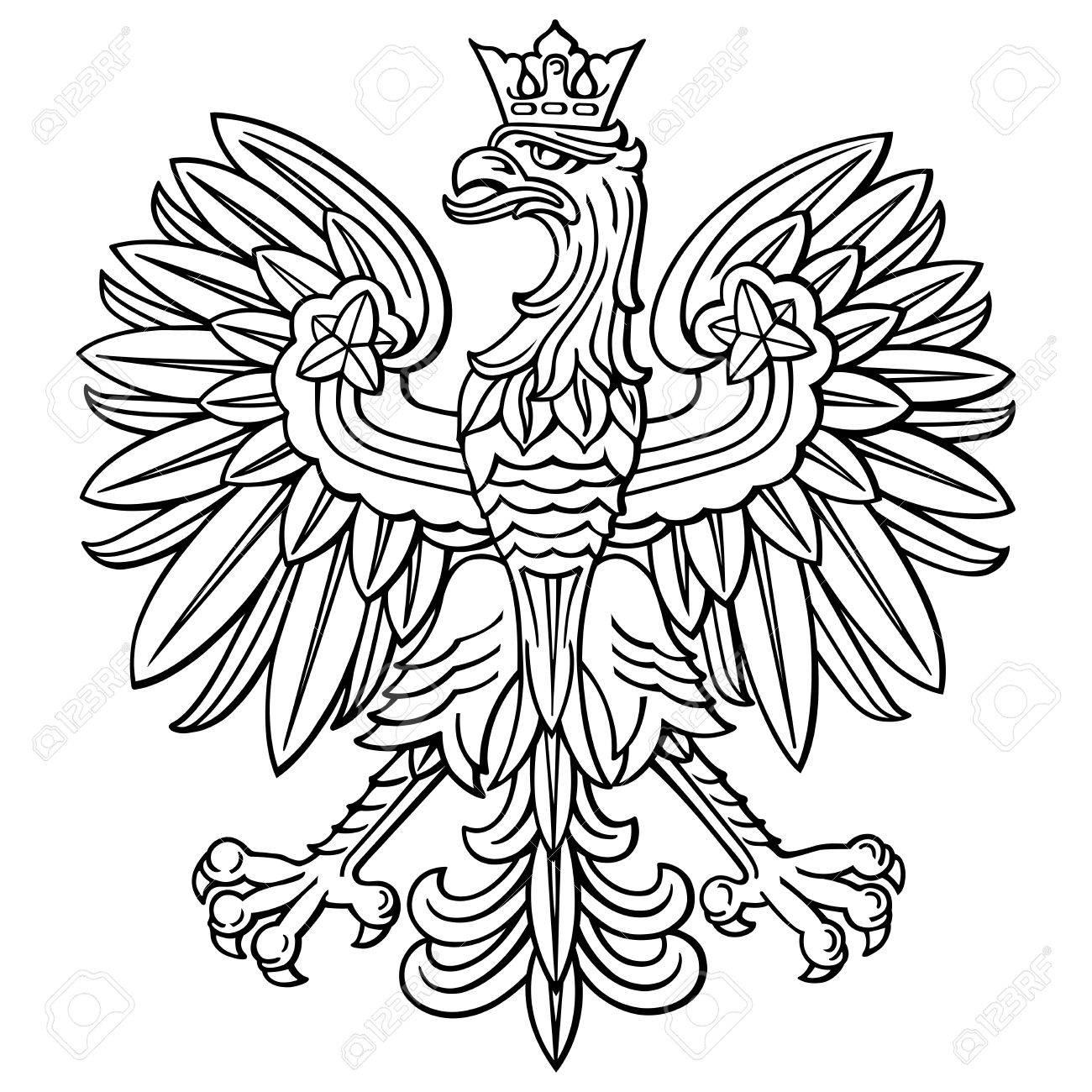 Poland eagle, polish national coat of arm, detailed vector illustration. - 85034996