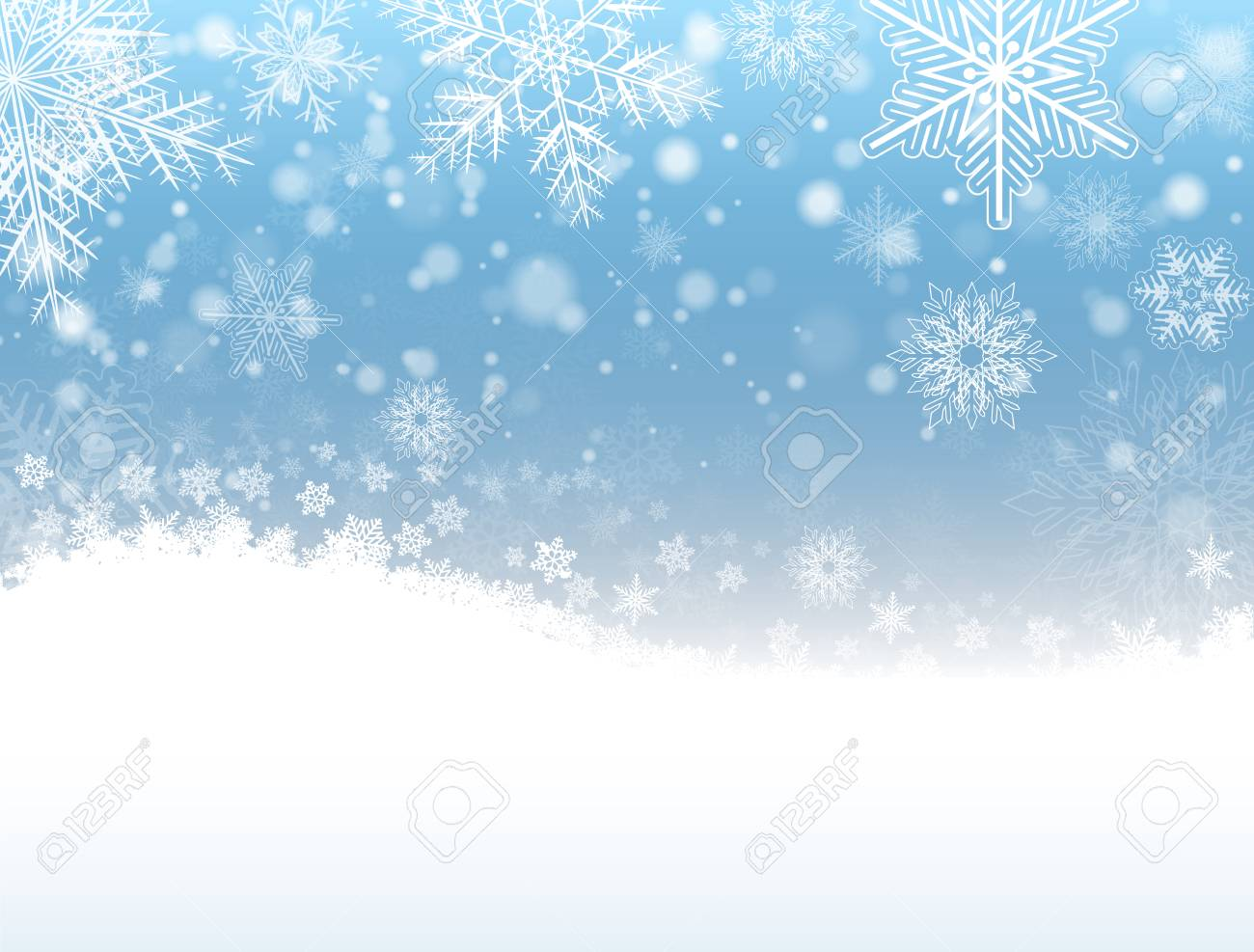 christmas background with snowflakes winter snow background