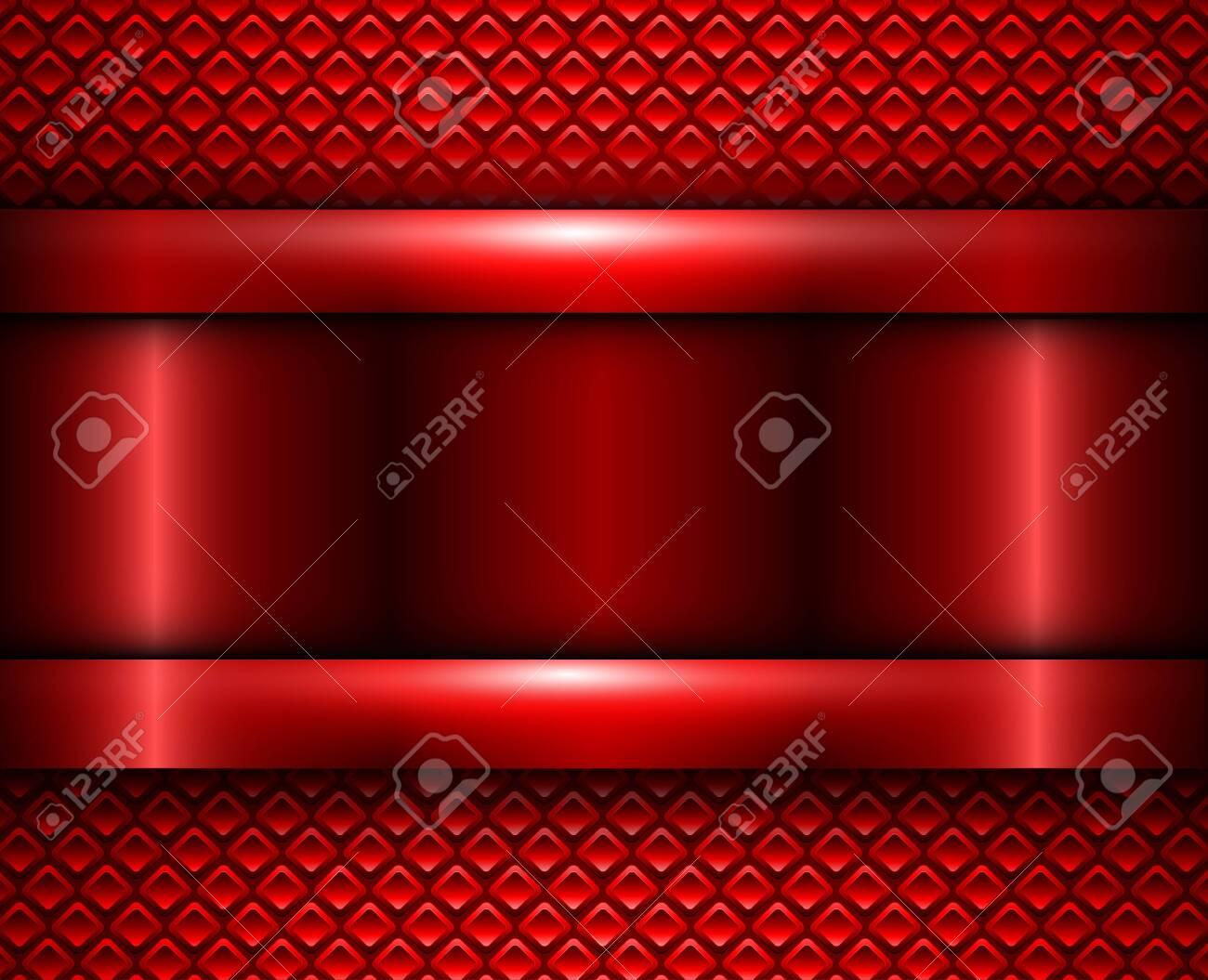 Background red metallic, vector metal texture design. - 140878869
