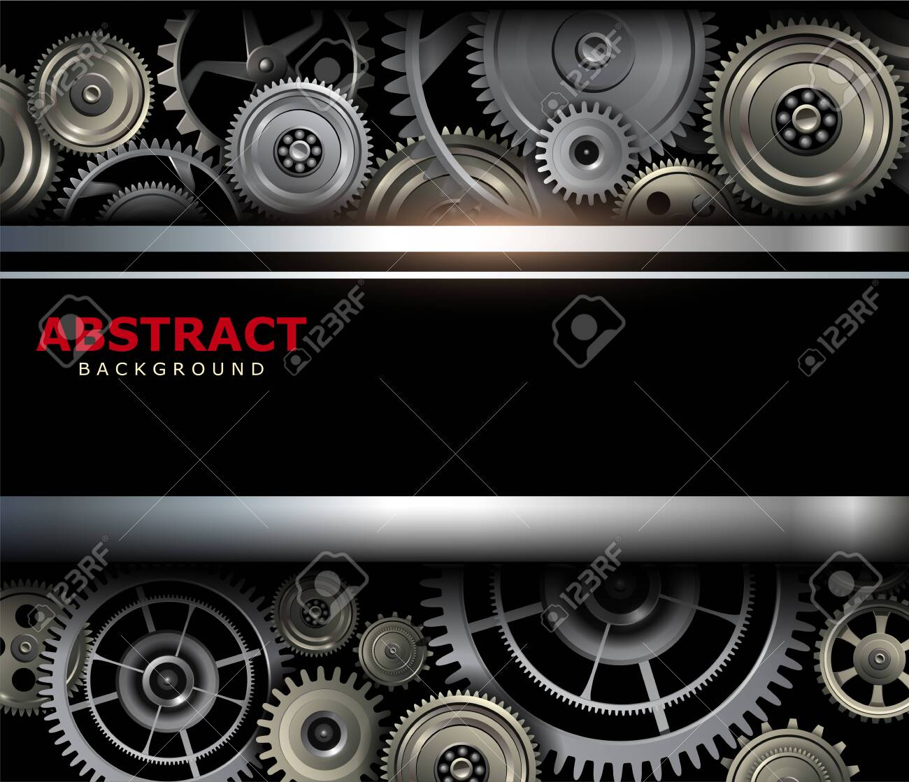 Background metallic with technology gears, vector illustration. - 144474978