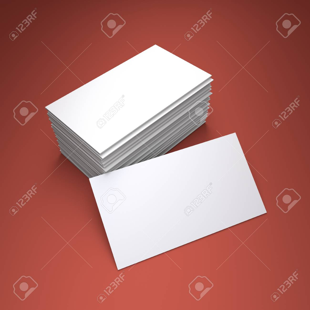 3D Rendering Of The Blank Business Card Stock Photo, Picture And ...