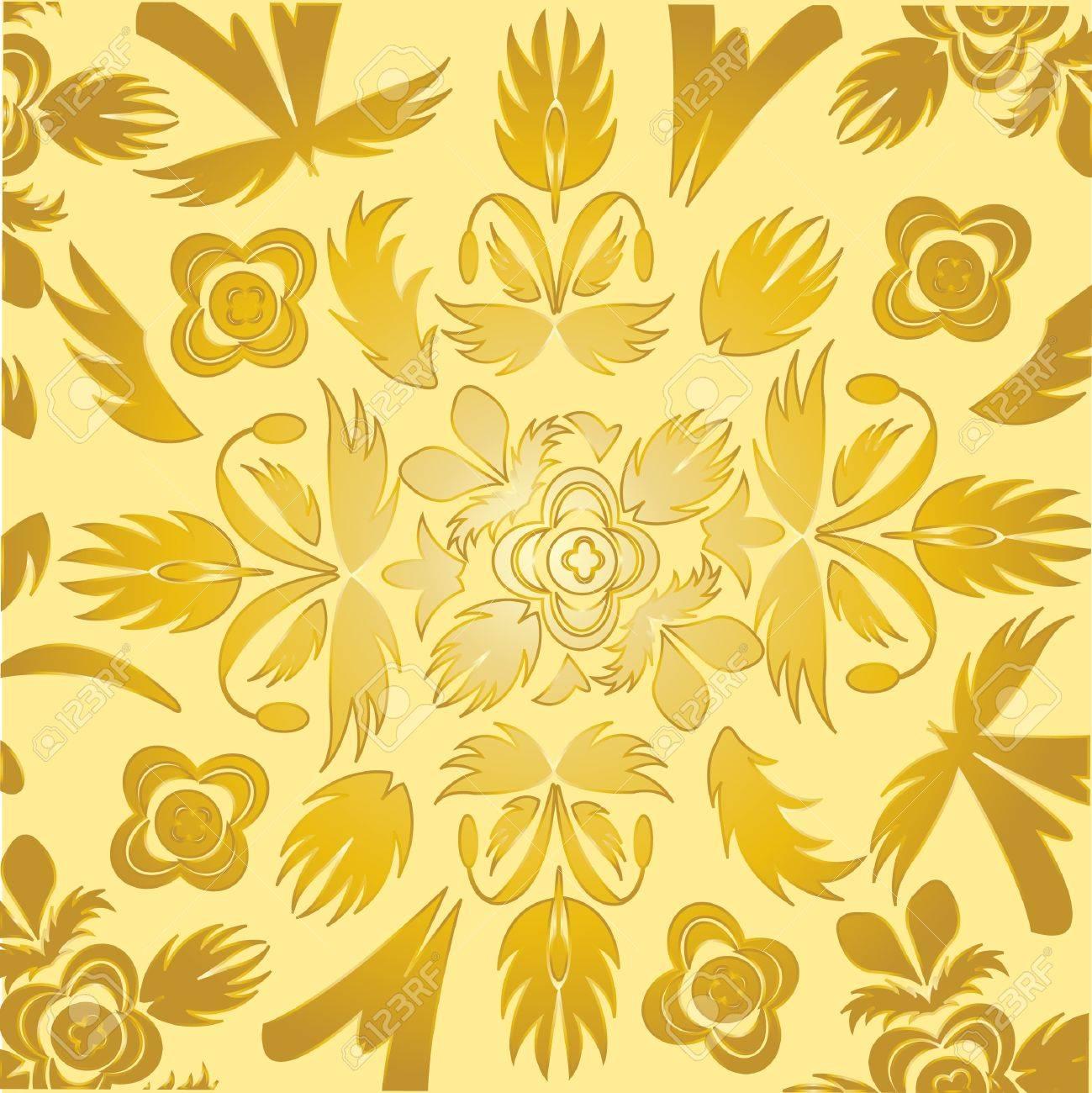 papel tapiz de colores decorativos del color dorado foto de archivo